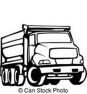 Truck clipart black and white box truck dual axels jpg black and white Dump truck Illustrations and Clipart. 8,174 Dump truck ... jpg black and white