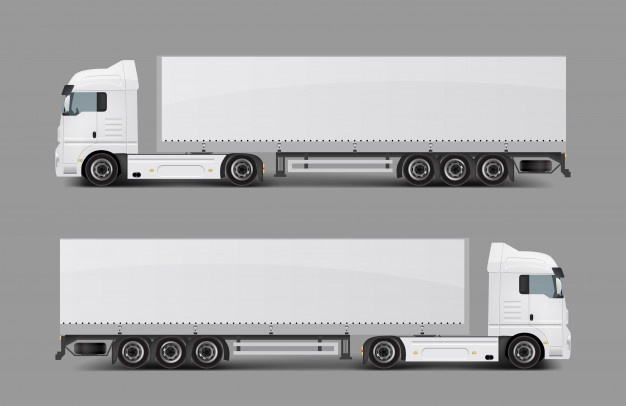Truck clipart black and white box truck dual axels picture download Trailer Vectors, Photos and PSD files | Free Download picture download