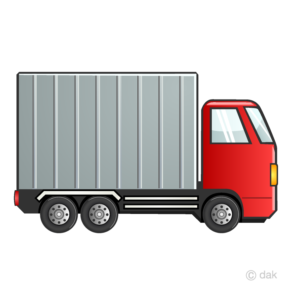 Truk clipart clip library download Red Container Truck Clipart Free Picture|Illustoon clip library download