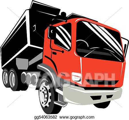 Truck front view clipart free stock Stock Illustrations - Front view of a red dump truck. Stock ... free stock