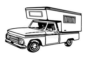 Truck pulling camper clipart clipart library download Truck Camper stock vectors - Clipart.me clipart library download