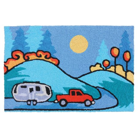 Truck pulling camper clipart picture download Follow Your Dreams Truck Pulling Camper 33 X 21 Inch Area Accent Washable  Rug picture download
