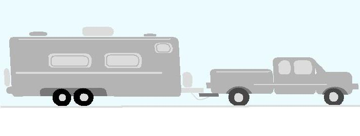 Truck pulling camper clipart clip art library library Just Camping Out: Towing a travel trailer: A brief encounter ... clip art library library
