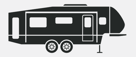 Truck pulling camper clipart vector black and white download What are the differences between a truck camper and a travel ... vector black and white download