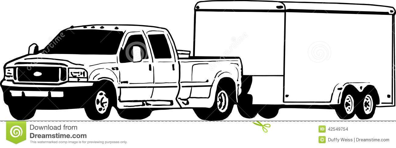 Truck and trailer clipart 2 » Clipart Portal clip royalty free