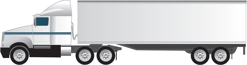Truck trailer clipart 2 » Clipart Portal image black and white stock