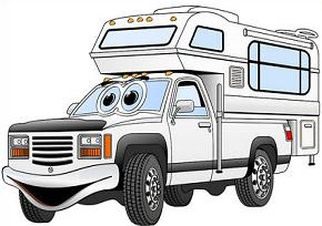 Truck with camper clipart clip art royalty free download Free Truck Camper Clipart clip art royalty free download
