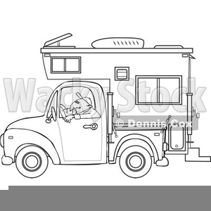 Truck with camper clipart banner transparent download Truck Camper Clipart | Free Images at Clker.com - vector ... banner transparent download