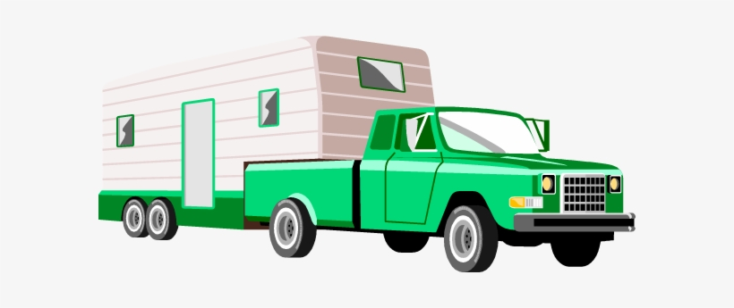 Truck with camper clipart png freeuse Caravan Clipart Motorhome - Truck Pulling Camper Clipart PNG ... png freeuse