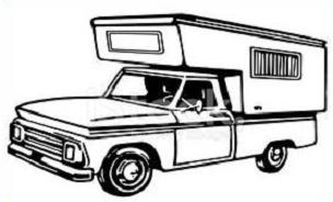 Truck with camper clipart png freeuse library Free Truck Camper Clipart png freeuse library