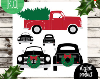 Truck with christmas tree clipart black and white vector transparent Free Christmas Truck Cliparts, Download Free Clip Art, Free ... vector transparent