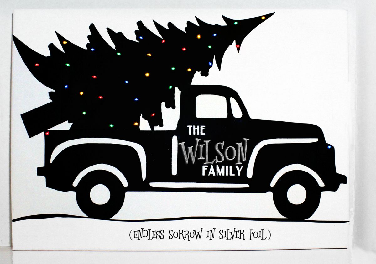 Truck with christmas tree clipart black and white jpg black and white library GroopDealz | Personalized Christmas Truck on Canvas 16x20 jpg black and white library