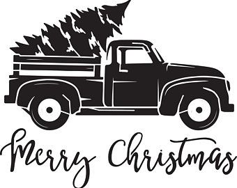 Truck with christmas tree clipart black and white black and white download Image result for truck stencil | DIY Projects and Crafts ... black and white download