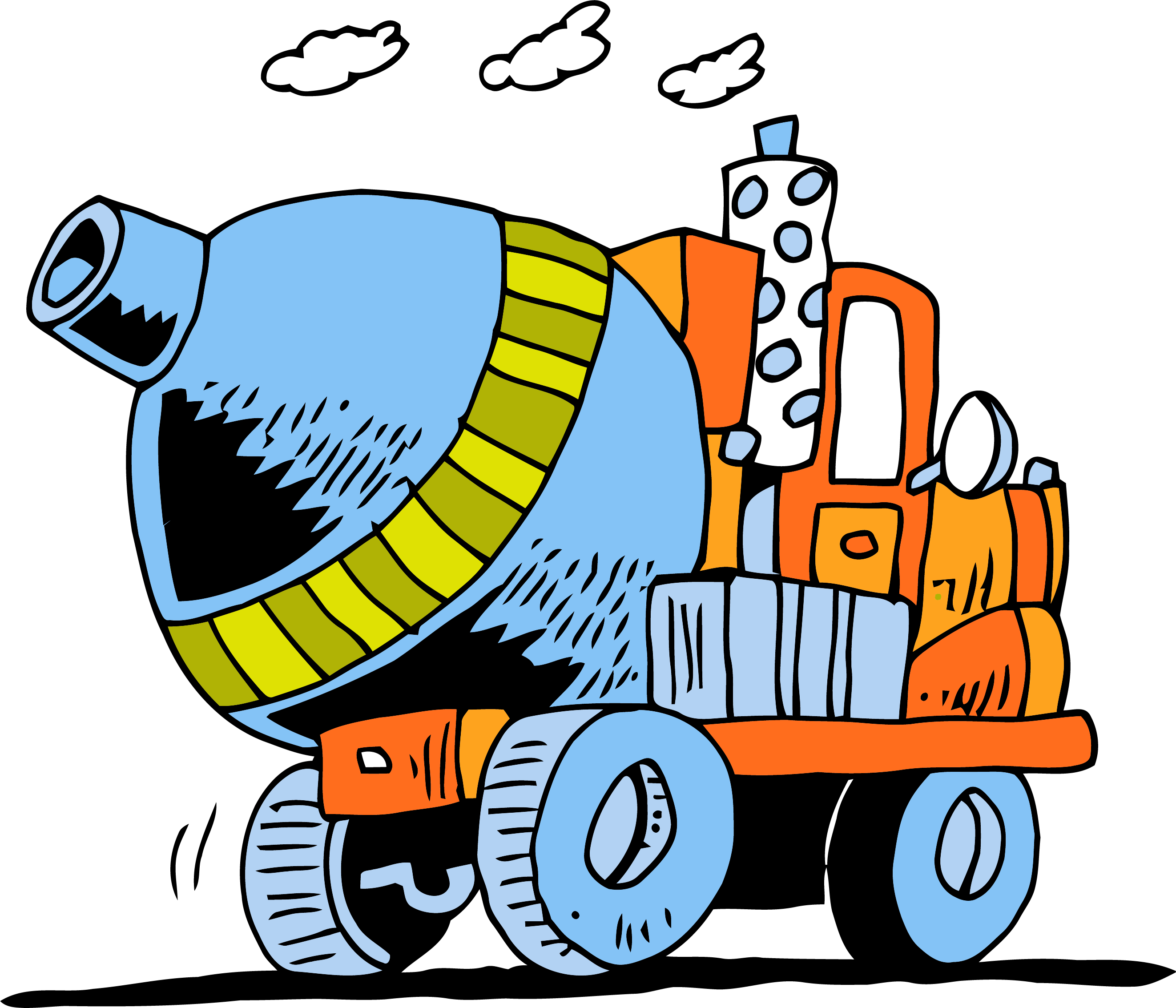 Cement Truck Going Clipart Png | Clipartly.com download