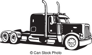 Trucker clipart black and white library Truck driver Clipart Vector and Illustration. 25,014 Truck ... black and white library