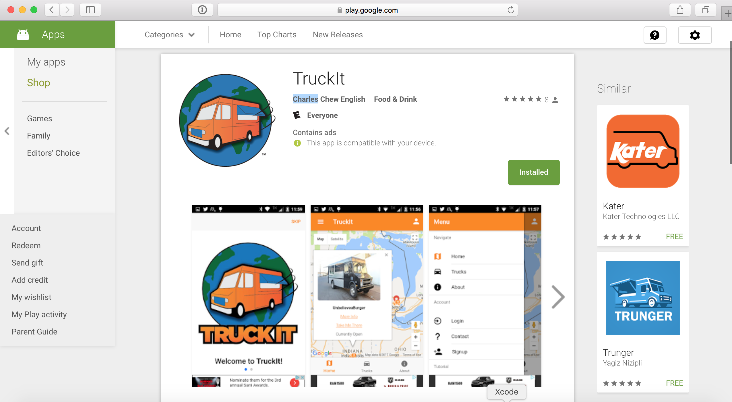 Truckit app image black and white stock Troy D.C. Thompson | Young, Bright, and Inquisitive image black and white stock