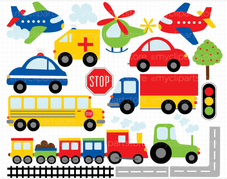Trucks and plane clipart banner transparent stock Trucks and plane clipart - ClipartFest banner transparent stock