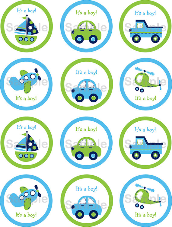 Trucks and plane clipart jpg library Boys Transportation Car Boat Truck Airplane by LittlePrintsParties ... jpg library