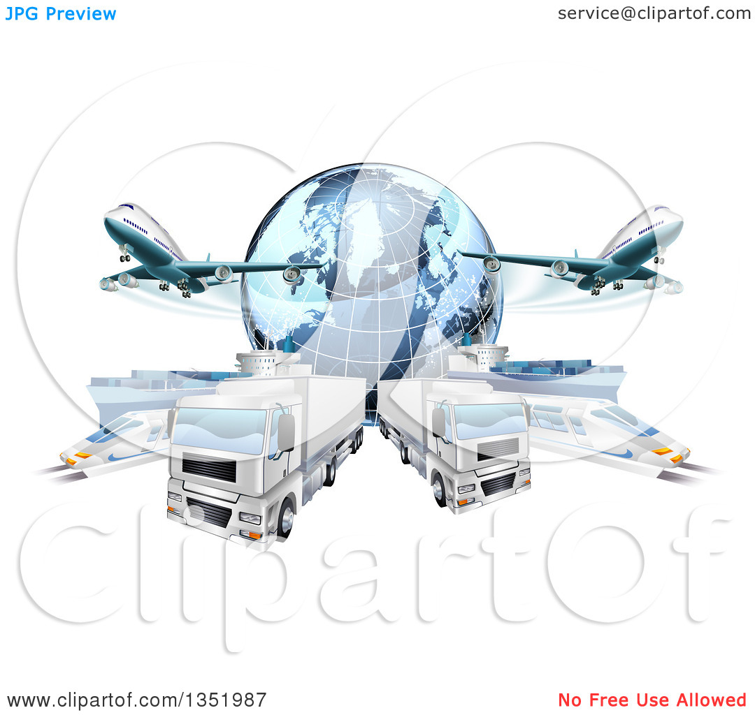 Trucks and plane clipart banner transparent stock Plane truck ship clipart - ClipartFest banner transparent stock
