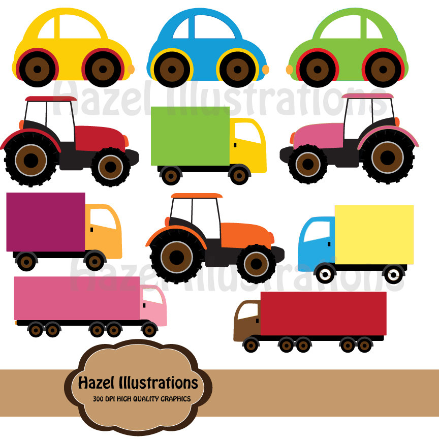 Trucks and plane clipart vector library Transportation Vehicles Car Truck Sailboat Airplane Train Clipart ... vector library