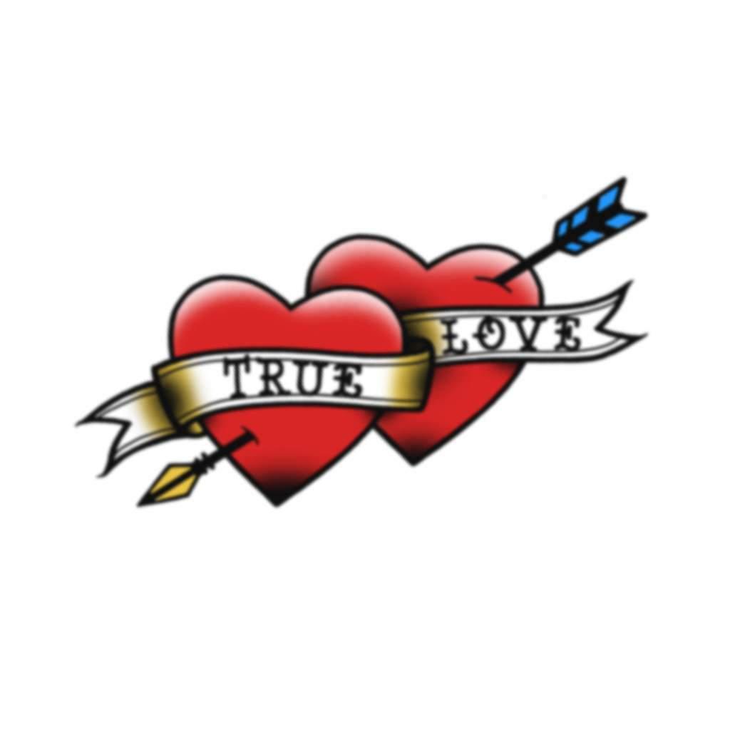 True Love Hearts graphic transparent