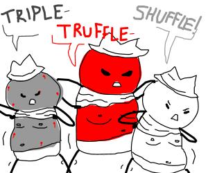 Truffle shuffle clipart banner black and white download Triple truffle shuffle scuffle! - Drawception banner black and white download