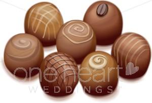 Chocolate Truffles Clipart | Wedding Chocolate Clipart clip free stock