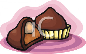 Clipart Picture Of A Chocolate Truffle With A Half Of One ... png library