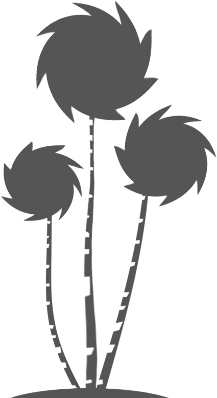 Truffula tree clipart black and white jpg free download Free Lorax Cliparts, Download Free Clip Art, Free Clip Art ... jpg free download