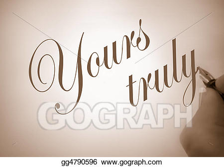 Yours truly clipart picture free library Stock Illustration - Callligraphy yours truly. Clipart ... picture free library