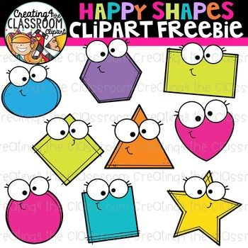 Truly free clipart clip transparent download Happy Shapes Clipart Freebie {Clipart Freebie} | Free ... clip transparent download