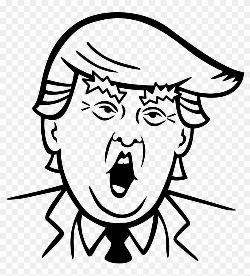 Trump black and white clipart picture royalty free Banner Royalty Free Library Donald Trump Clipart Black ... picture royalty free