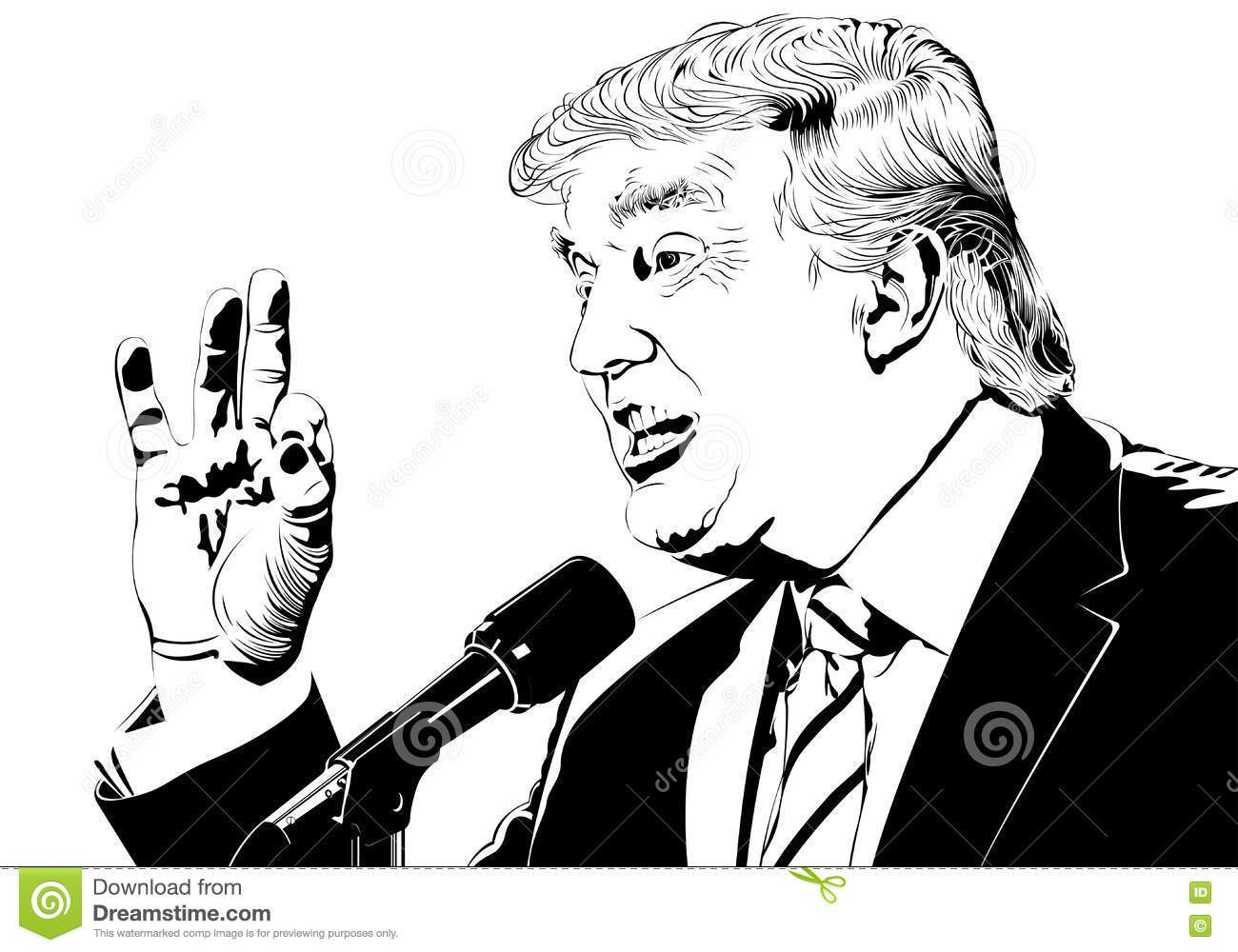 Trump black and white clipart clipart royalty free Trump clipart black and white 2 » Clipart Portal clipart royalty free