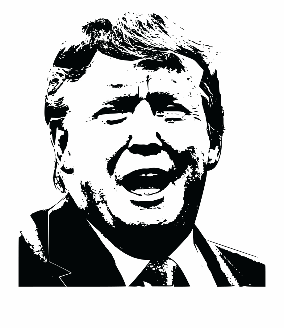 Trump black and white clipart jpg free download Transparent Download Collection Of Donald High Free - Trump ... jpg free download