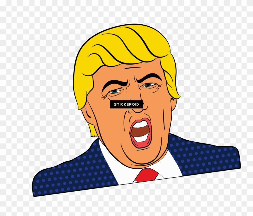Trump clipart svg royalty free download Angry Trump Clipart - Carpe Trump Round Ornament - Png ... svg royalty free download