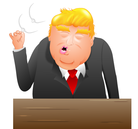 I created some Donald Trump Emojis - The Oatmeal graphic black and white