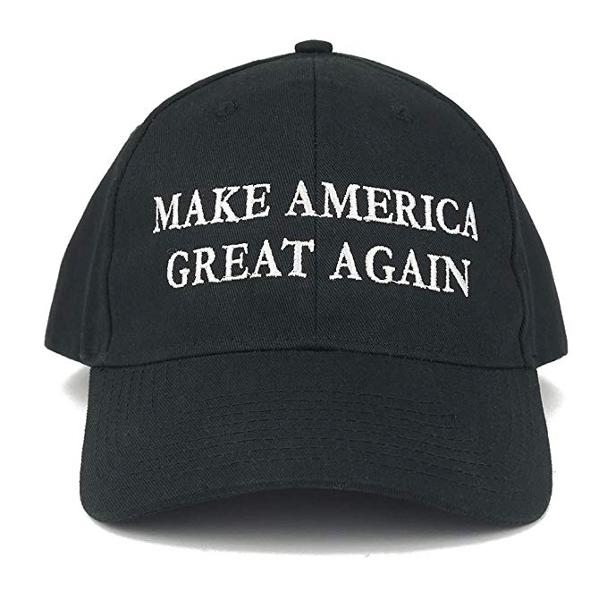 Trump hat clipart picture black and white library Armycrew Made in USA Donald Trump Structured Cotton Cap - Make America  Great Again Embroidered picture black and white library