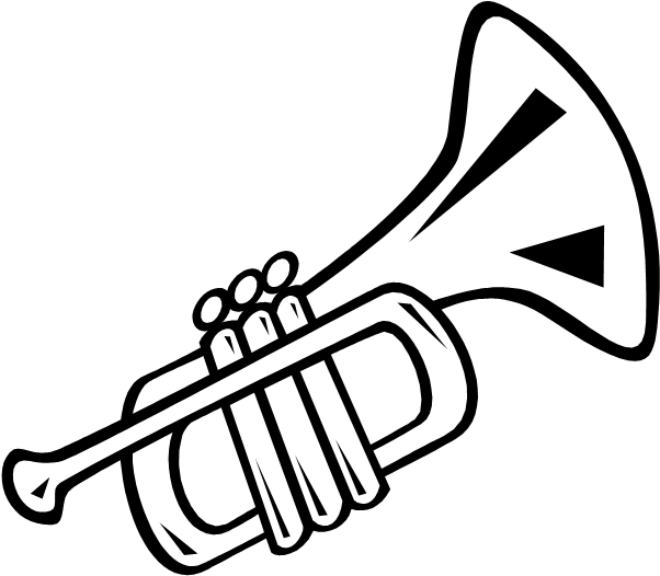 Trumpet black and white clipart image HD Trumpet Clip Art Clipartfest - Trumpet Clipart Black And ... image
