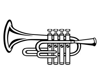 Trumpet black and white clipart banner stock Trumpet clipart black and white » Clipart Portal banner stock