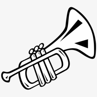 Trumpet black and white clipart clip free library Trumpet Clipart Tumundografico - Trumpet Black And White ... clip free library