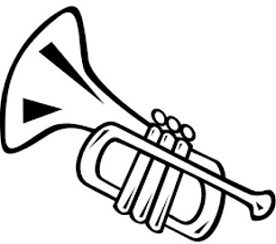 Trumpet black and white clipart svg black and white Trumpet Clipart Black And White (95+ images in Collection ... svg black and white