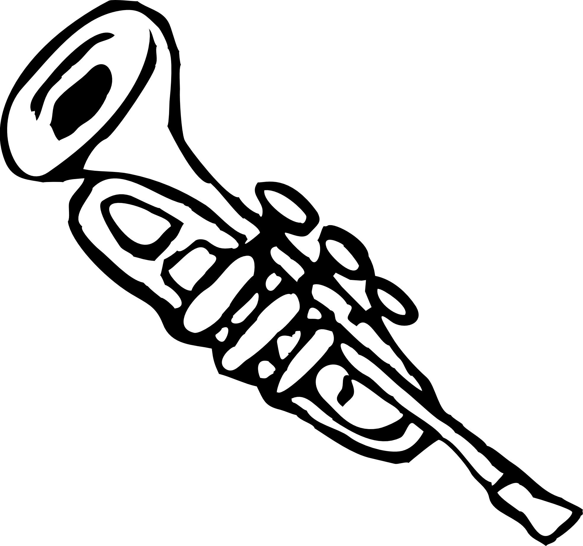 Trumpet black and white clipart clipart download Trumpet 3 Black White Line | Clipart Panda - Free Clipart Images clipart download