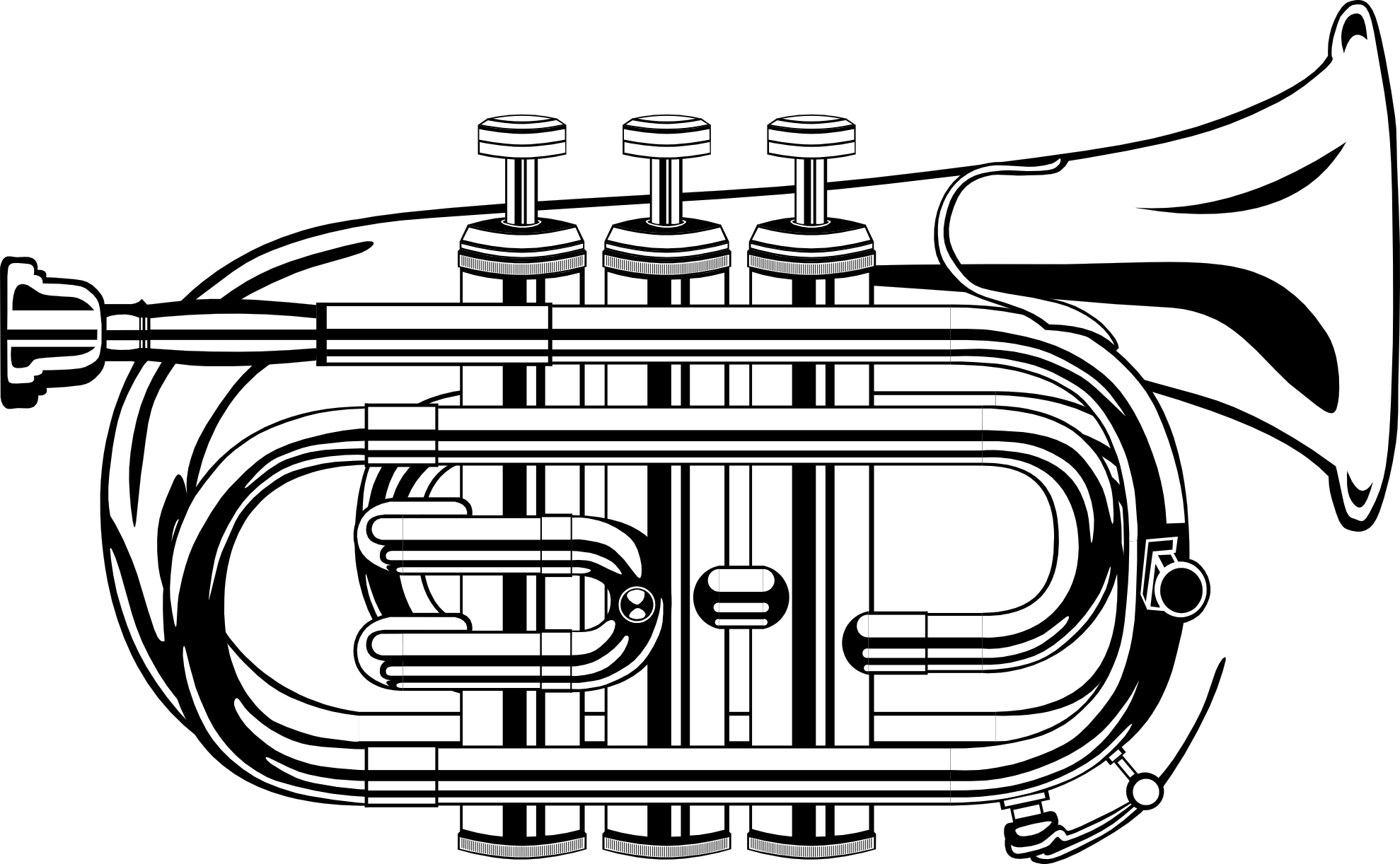 Trumpet black and white clipart graphic free library Trumpet black and white clipart kid - Cliparting.com graphic free library