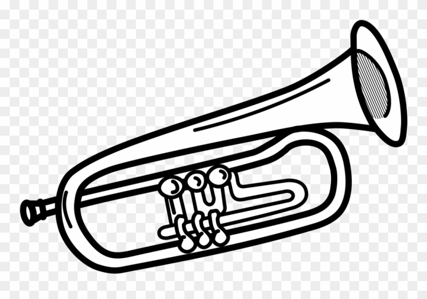 Trumpet black and white clipart clipart freeuse stock Trumpet Clipart Images Free Download - Trumpet Clipart Black ... clipart freeuse stock