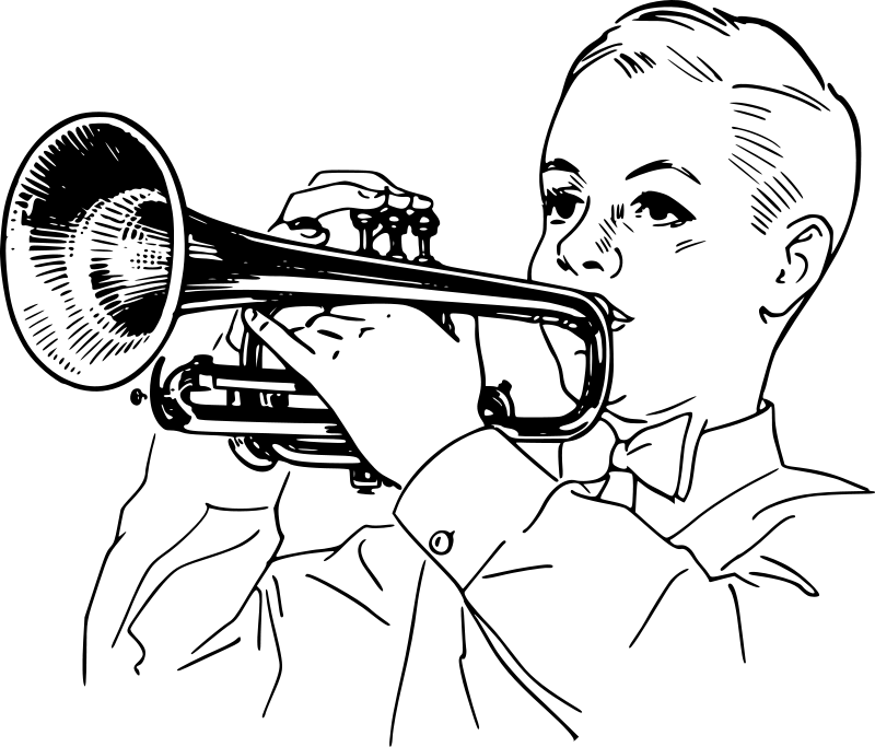 Trumpet clipart for preschool banner free library Free Children Playing Clipart, Download Free Clip Art, Free ... banner free library