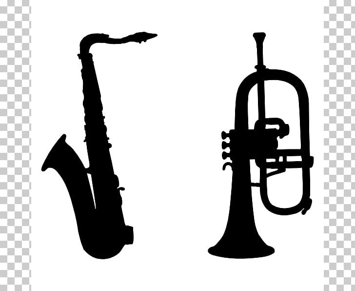 Trumpet clipart silhouette
