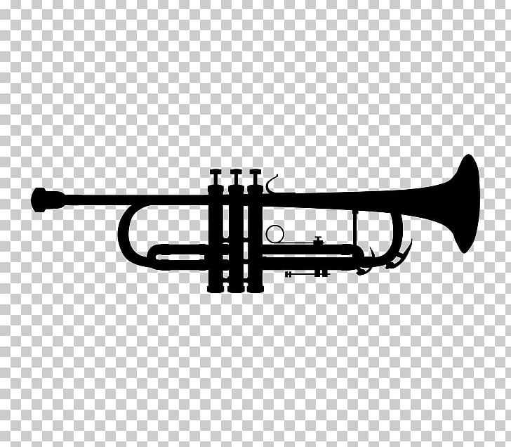 Trumpet Silhouette Musical Instruments PNG, Clipart, Black ... clipart library download