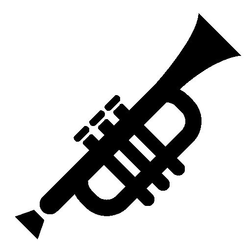 Trumpet silhouette clipart - WikiClipArt svg freeuse stock