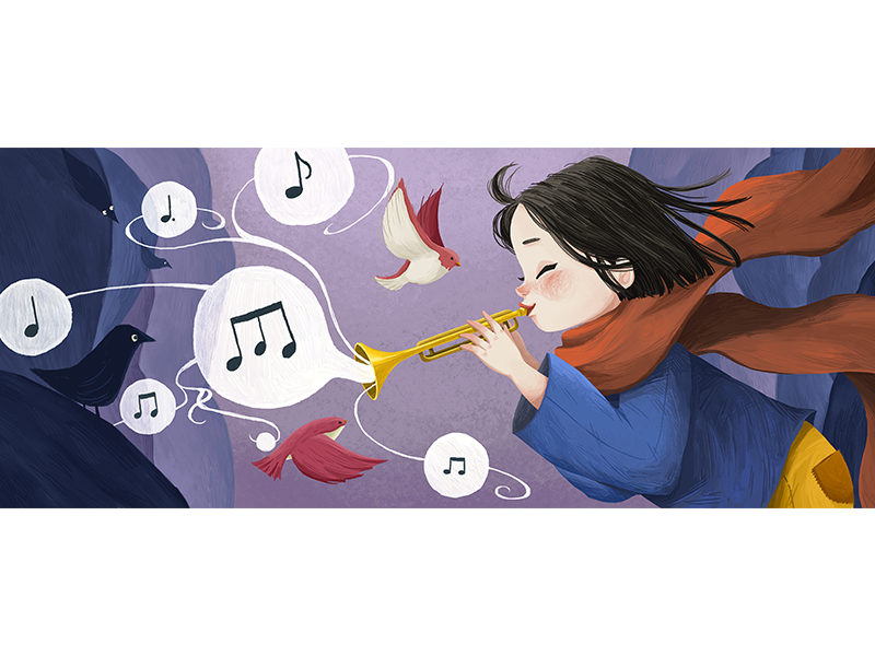 Trumpet clipart tran graphic freeuse stock Tran Thuy My | Dribbble graphic freeuse stock