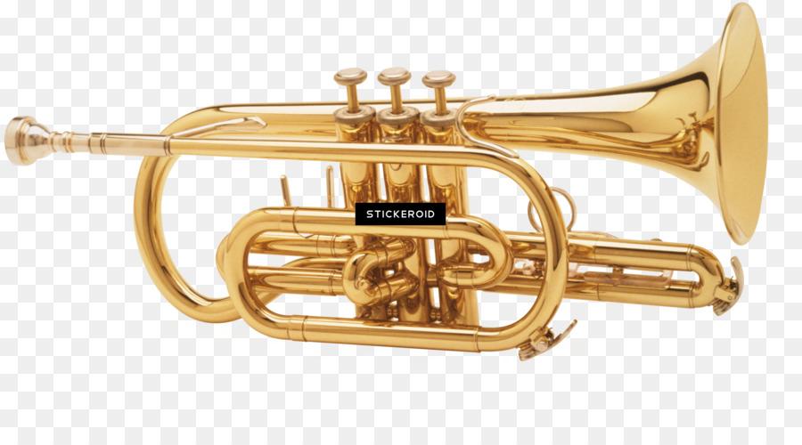 Trumpet clipart tran image free download Brass Instruments png download - 3190*1706 - Free ... image free download